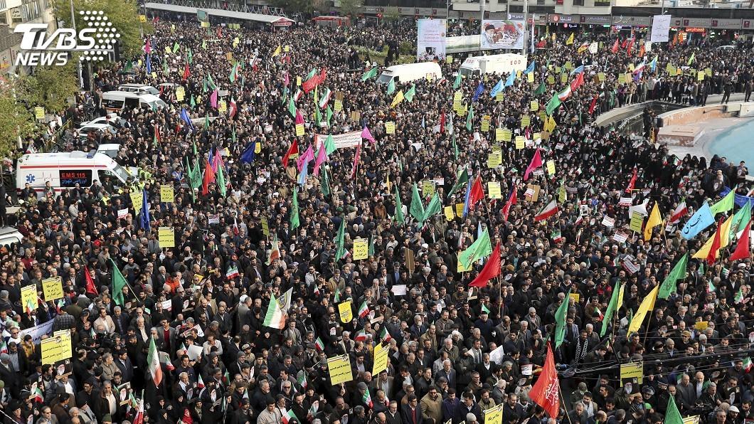 圖/達志影像美聯社 伊朗鎮壓示威群眾 國際特赦組織:至少304死