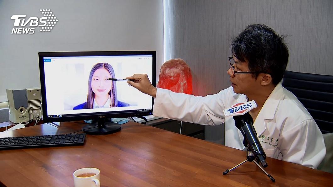 圖/TVBS 包括「韓國瑜、蔡英文」一萬張臉融合後長這樣