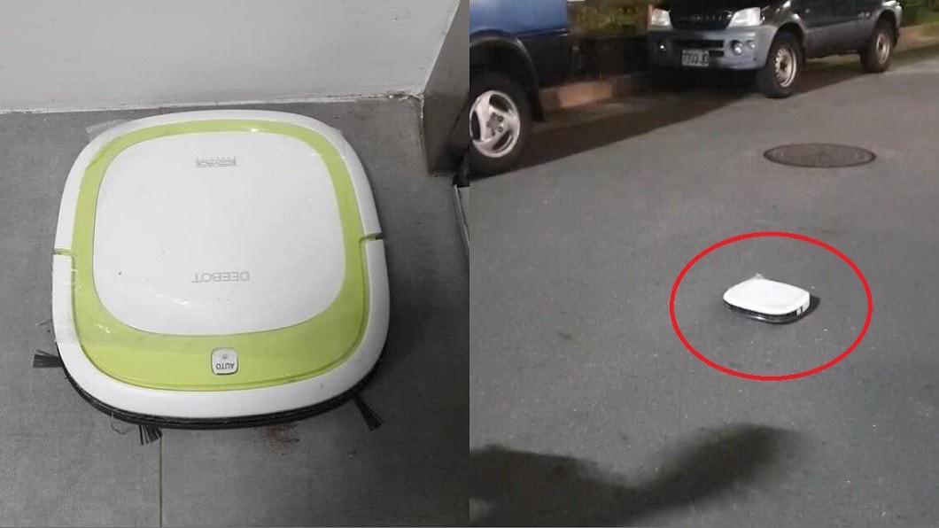 圖/翻攝自臉書社團「爆廢公社」 離家出走變「掃街機器人」!萬人笑歪:太盡責了要加薪