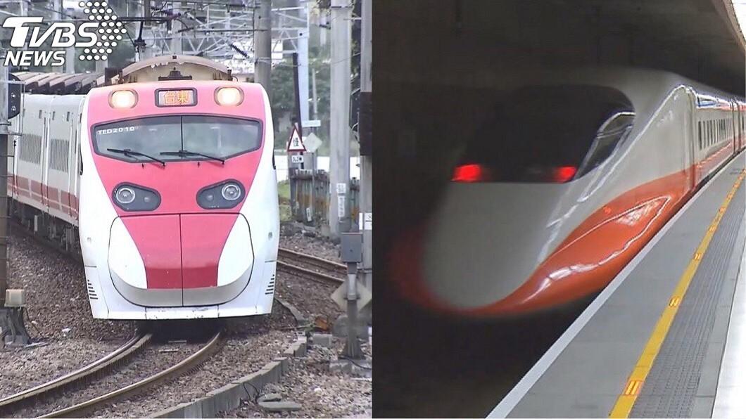 台鐵、高鐵示意圖。圖/TVBS 雙鐵6/1起飲食有條件解禁 吃完仍須戴上口罩