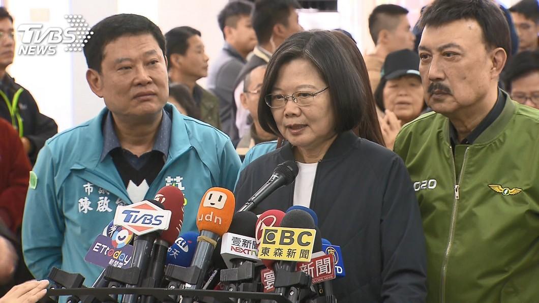 圖/TVBS 遭韓國瑜指控抄襲政策 蔡英文回擊:每天在唱衰