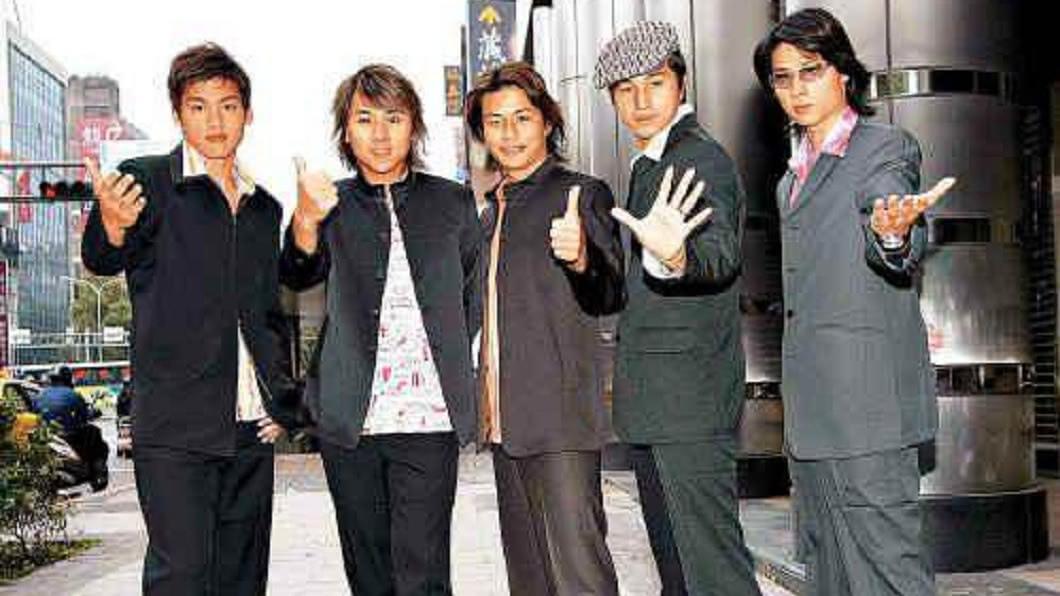 經典男團5566,至今仍是許多歌迷和影迷的回憶。(圖/翻攝自百度百科) 小刀曝5566陳年成軍照 「原是6人團體」網驚呼