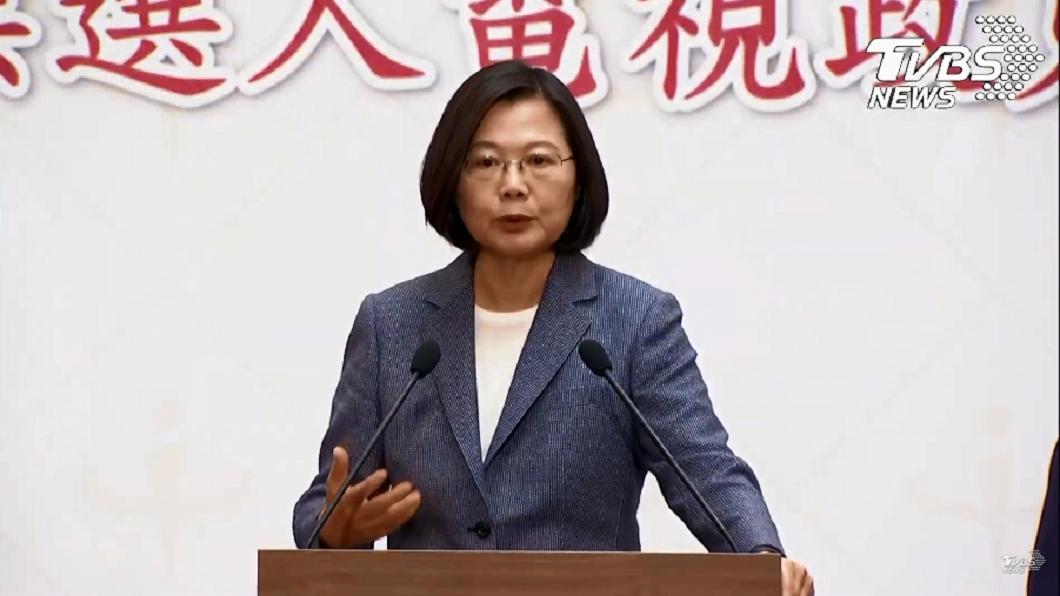 圖/TVBS 蔡總統:把反滲透法說成戒嚴 北京會很欣慰
