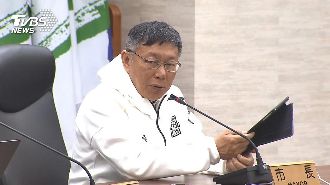 台北市長柯文哲。(圖/TVBS資料畫面) 幫推投石投標惹議 柯文哲:確信北市標案沒問題