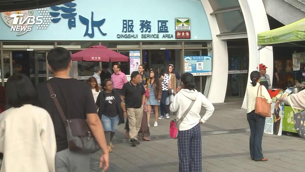 圖/TVBS 拚美食! 日高速公路業者插旗「清水休息站」