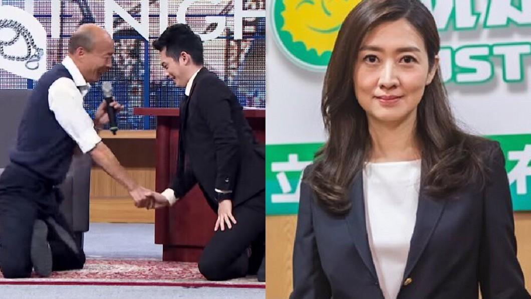 圖/翻攝自YouTube STR Network 頻道(薩泰爾娛樂版權所有)、鄧惠文X綠黨臉書 為何韓國瑜用膝蓋走路?鄧惠文分析「搗蛋鬼模式」