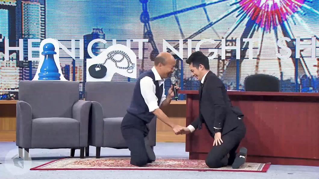 韓國瑜支付31.5萬上《博恩夜夜秀》。(圖/翻攝自YouTube) 韓國瑜上《博恩夜夜秀》 竟比蔡英文多支出2.5倍