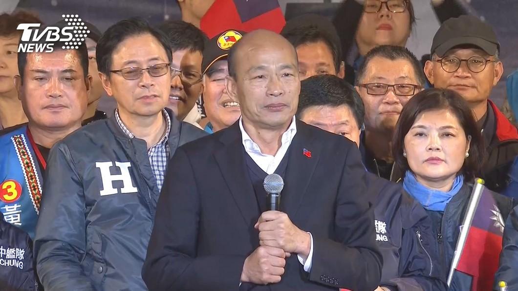 國民黨總統候選人韓國瑜。圖/TVBS資料畫面 反滲透通過 韓國瑜怒了:中華民國憲政史上恥辱的一天!