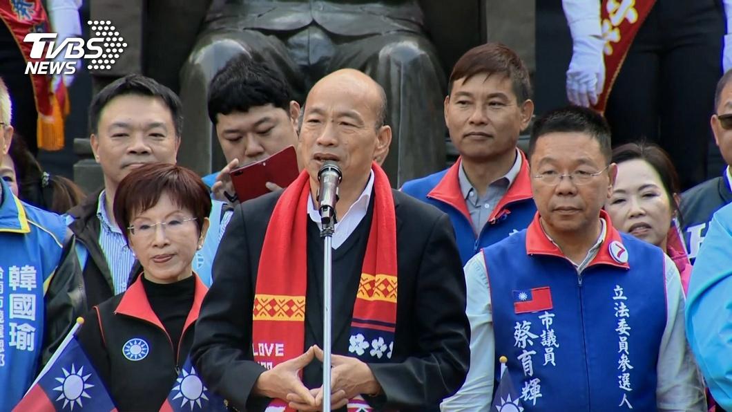 高雄市長韓國瑜。(圖/TVBS資料畫面) 年輕人8成「天然台」! 趙少康揭國民黨凋零危機