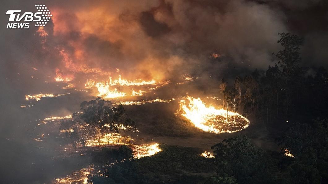 圖/達志影像美聯社 澳洲熱浪恐惡化野火危機 數千觀光客準備撤離