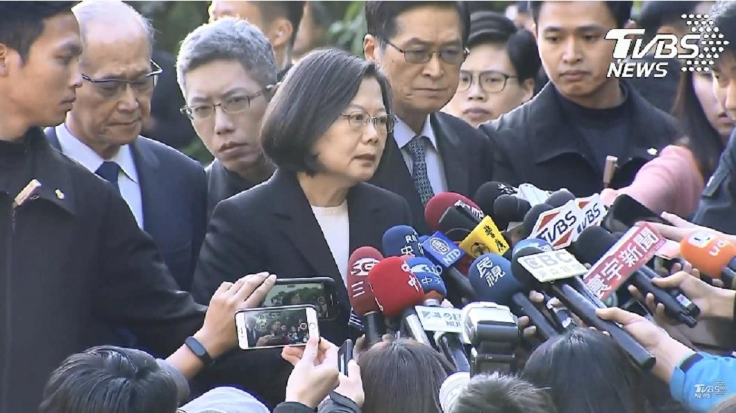 圖/TVBS 蔡英文召開國防軍事會談 追晉沈一鳴一級上將