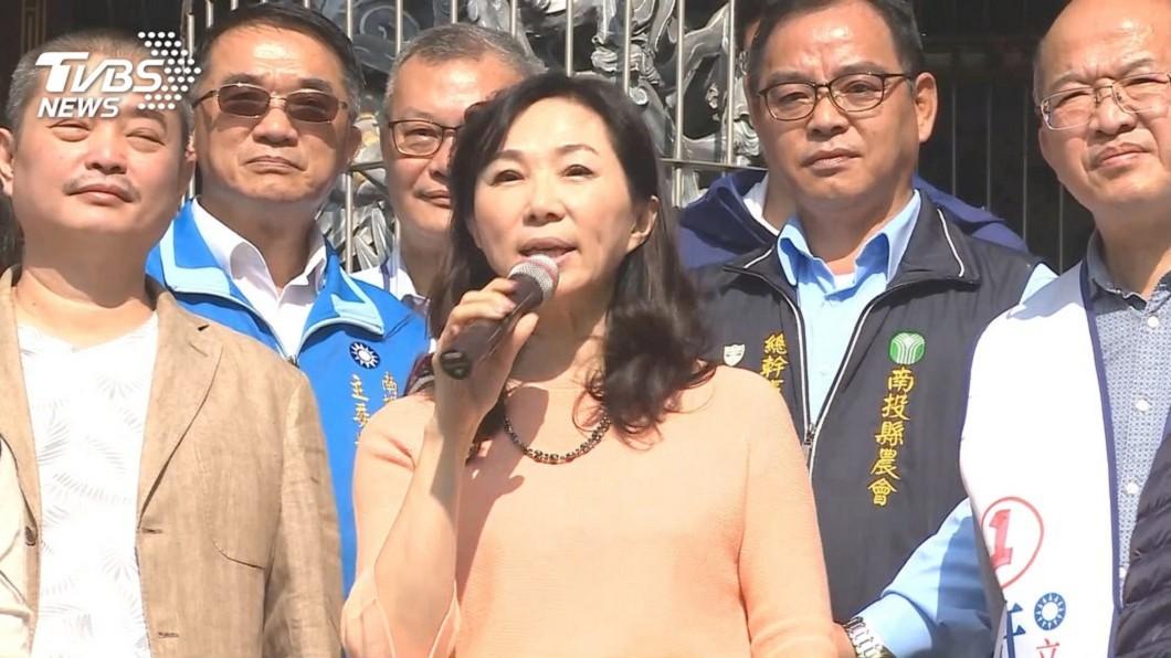 李佳芬助選行程滿檔 (圖/TVBS) 夫妻感情被檢視 李佳芬嗆:這種選舉是有病嗎?