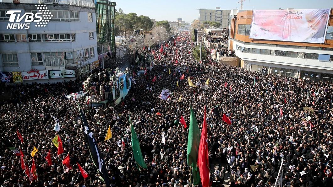 圖/達志影像路透社 遭美狙殺將領哀悼期將結束 伊朗可能隨時報復