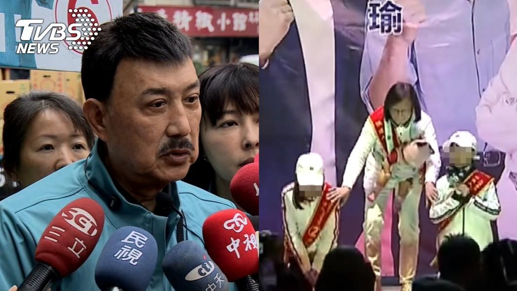 圖/TVBS資料畫面 對手孫子女「悲情下跪」催票 余天:不用選到這樣