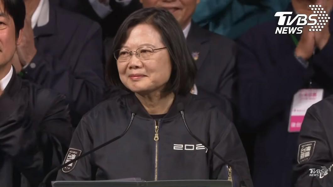 蔡英文贏得大選成功連任。(圖/TVBS) 點名國民黨「3大咖」太過分!女星倒戈:挺小英挺到我死