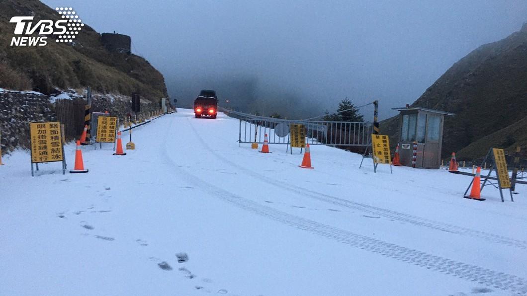 資料畫面/公路總局提供 快訊/合歡山路面恐結冰 開車上山要帶雪鍊
