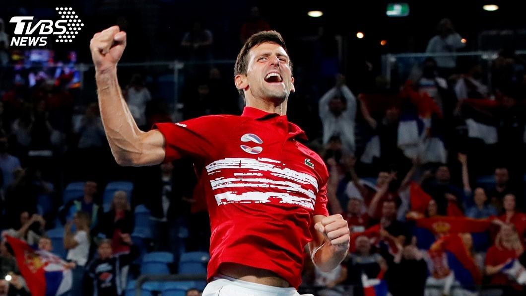 圖/達志影像路透社 率塞爾維亞捧ATP盃首冠 喬科維奇情緒激動