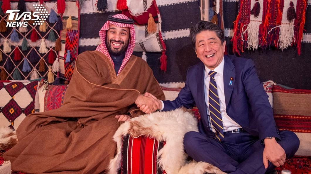 圖/達志影像路透社 安倍會沙國王儲 緩和中東緊張情勢看法一致