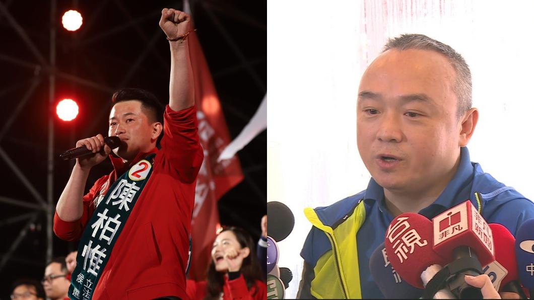 中市第二選區立委由台灣基進黨的陳柏惟(左)奪下。(圖/(左)翻攝自3Q 陳柏惟Facebook、(右)TVBS資料畫面) 潘恒旭欠千份雞排神隱 陳柏惟爆「驚人真相」:他自己人