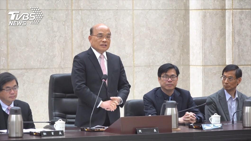 圖/TVBS資料畫面 台灣前途說 蘇貞昌:別的國家不要說長道短