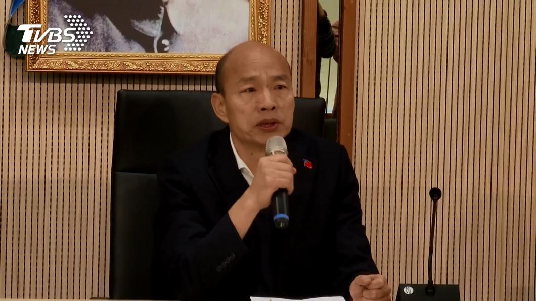 回歸市政的韓國瑜未來還得面臨罷韓壓力。(圖/TVBS資料畫面) 罷韓能擋下?他提「4不」揭唯一解答