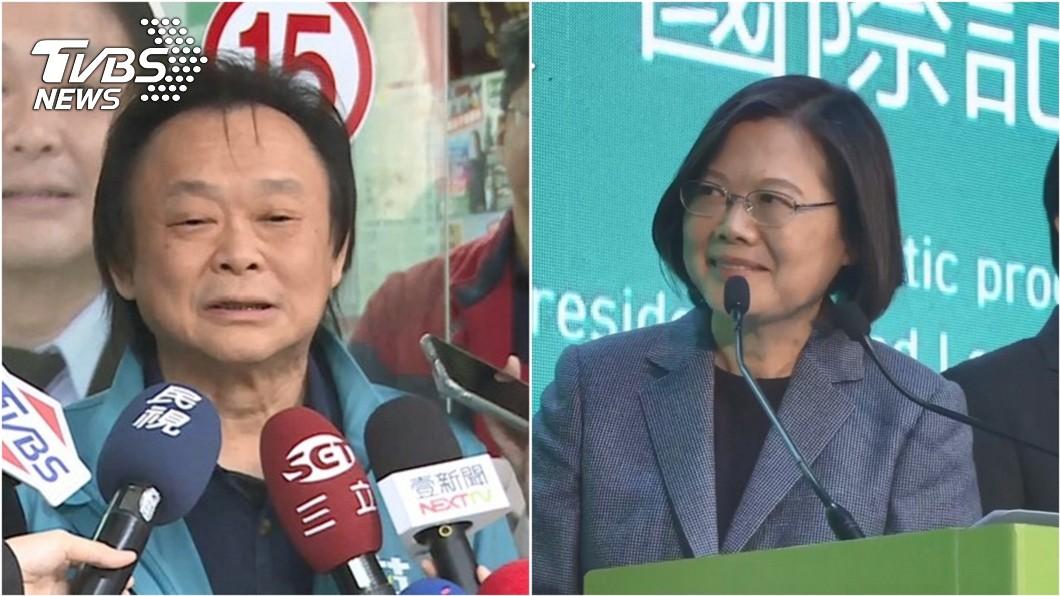 台北市議員王世堅(左)曾豪賭若總統蔡英文(右)連任,他願意跳海慶祝。(圖/TVBS資料照)  賭小英連任就跳海 王世堅8字回應網讚「真男人」