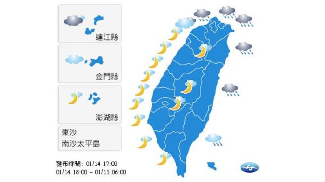 周三各地早晚冷 白天溫升!北台仍涼