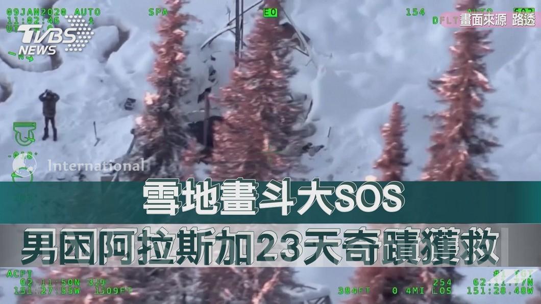 雪地畫斗大SOS 男困阿拉斯加23天奇蹟獲救