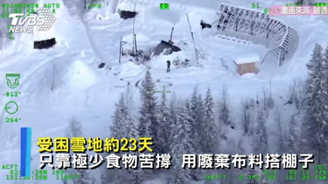 男子受困雪地約23天,只靠極少食物苦撐。圖/路透社