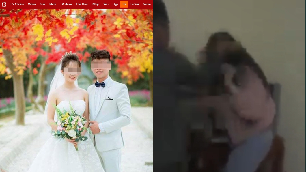 岳父目擊出軌一幕,氣得甩自己女兒巴掌(右圖)。(圖/翻攝自Vietgiaitri) 新婚7天目擊妻激戰2男 他臉秒綠:捧花還沒枯萎…
