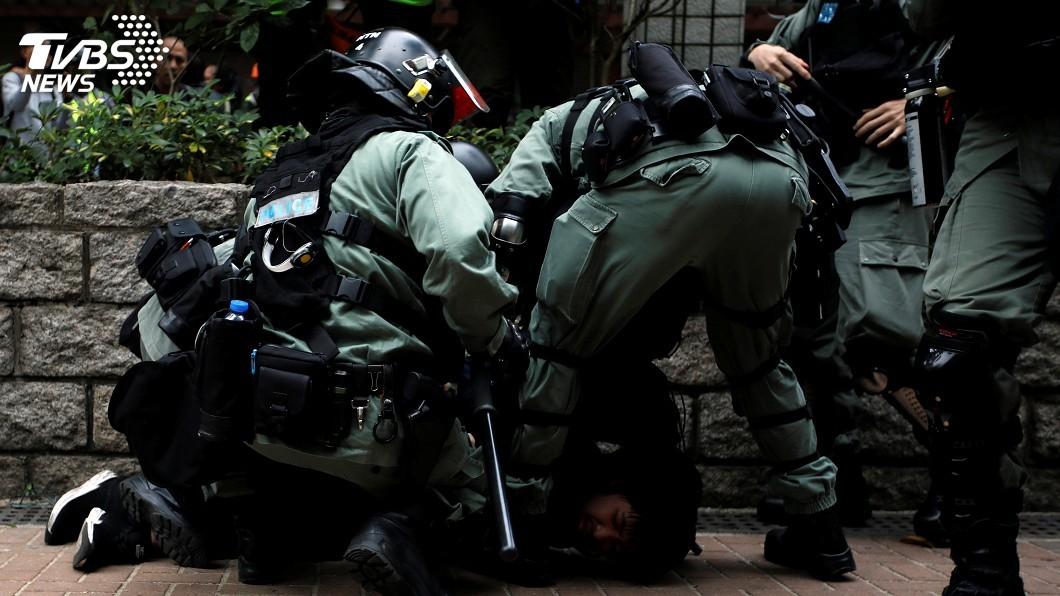 資料畫面。圖/達志影像路透社 港警搜獲爆炸品 拘捕疑是勇武核心成員