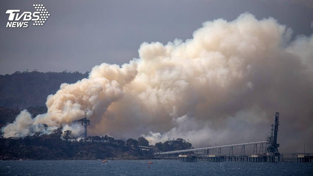 圖/達志影像路透社 野火煙霾籠罩墨爾本 澳網會外賽延後開打