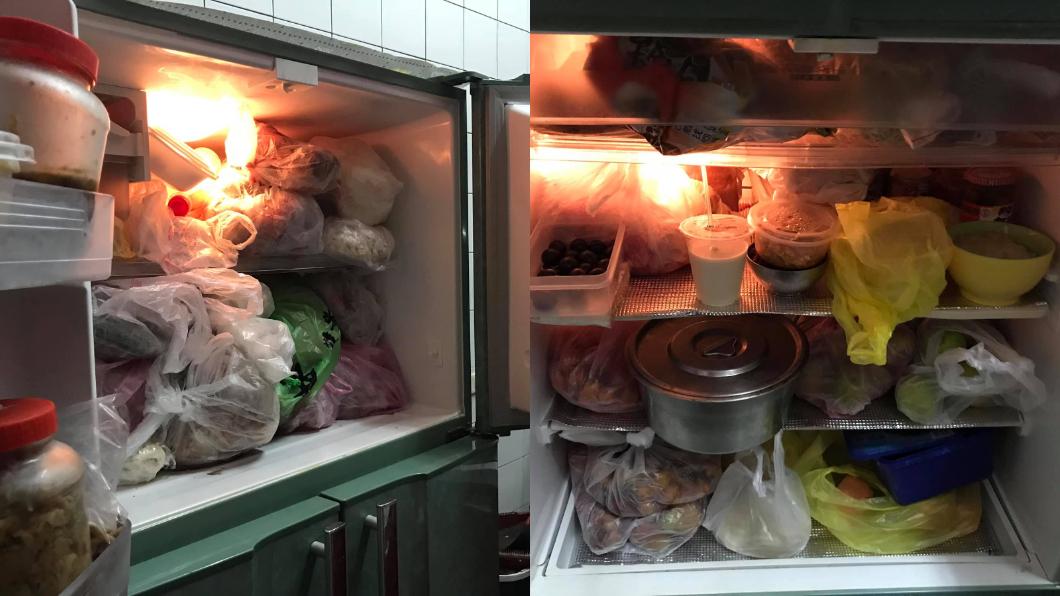 原PO媽媽有把冰箱塞好塞滿的習慣。(圖/翻攝自爆怨公社) 媽「萬年冰箱」塞爆!妻嚇到10年不敢開 網全傻眼