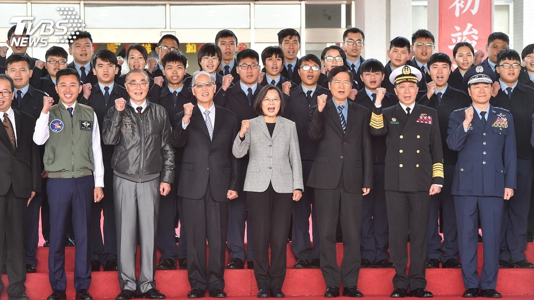 圖/中央社 總統:未來4年帶領國軍做更多值得社會肯定的事