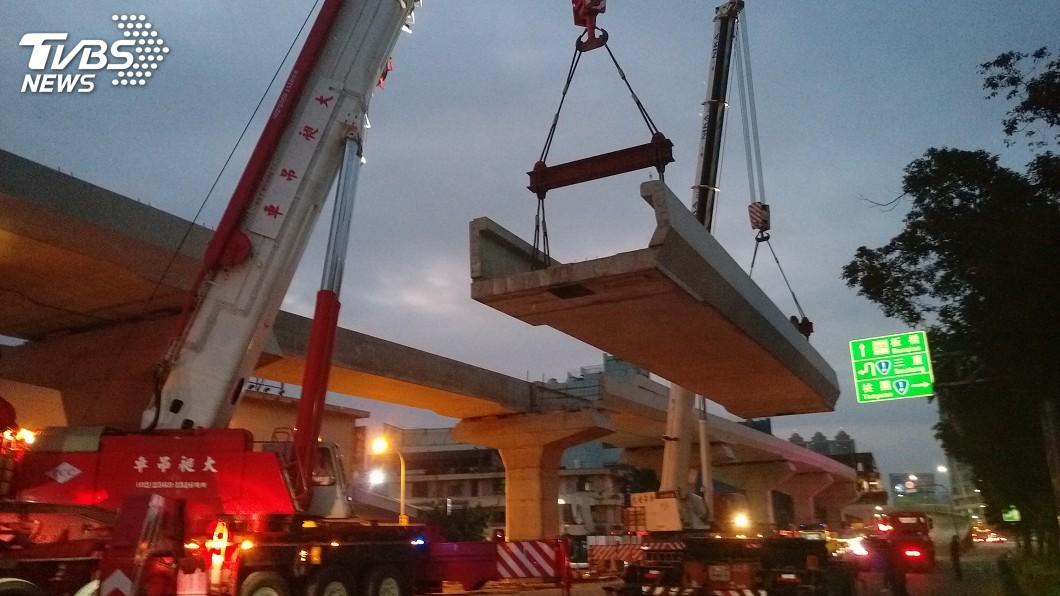 圖/新北捷運局提供 一線天深入岩盤落墩 疊式高架橋推進環狀線