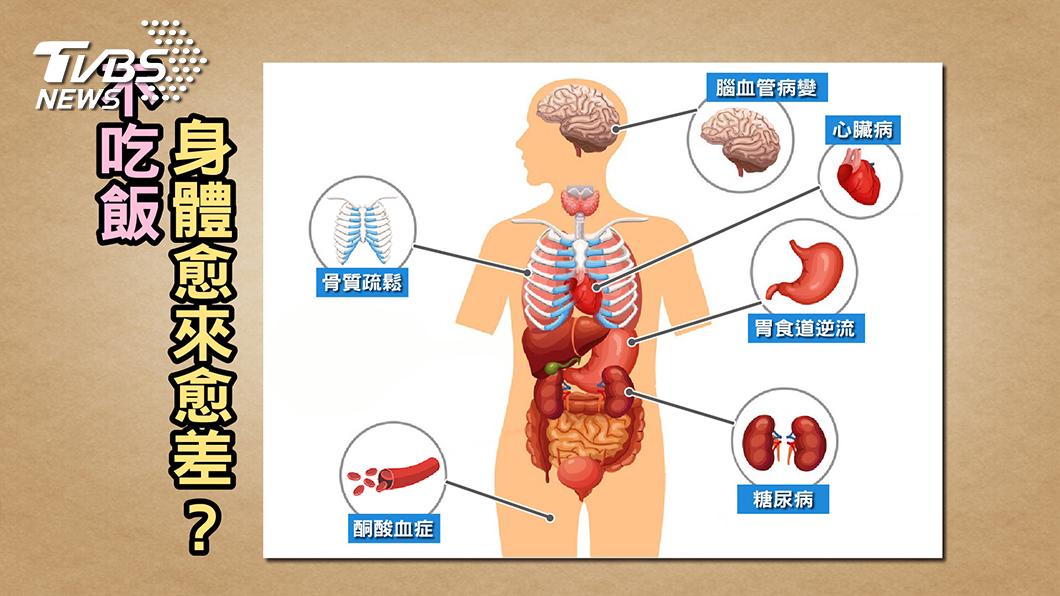圖/TVBS提供 不吃「米飯」減肥?小心停經、骨鬆來報到