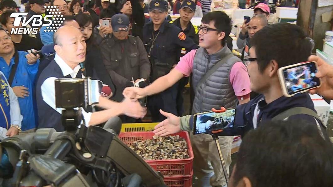 高雄市長韓國瑜清晨前往前鎮漁市視察。(圖/TVBS) 韓國瑜清晨5時視察漁市 網驚:好早起!韓總回來了