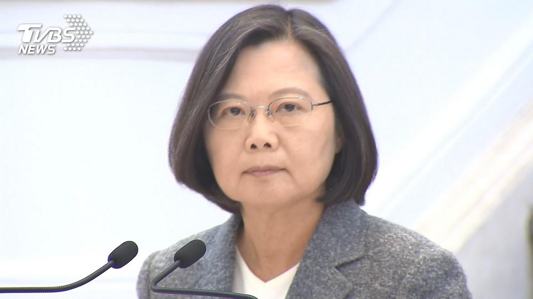 總統蔡英文接受專訪談及殉職的沈一鳴。(圖/TVBS資料照片) 談沈一鳴殉職 蔡英文:身為領導人沒有悲傷權利
