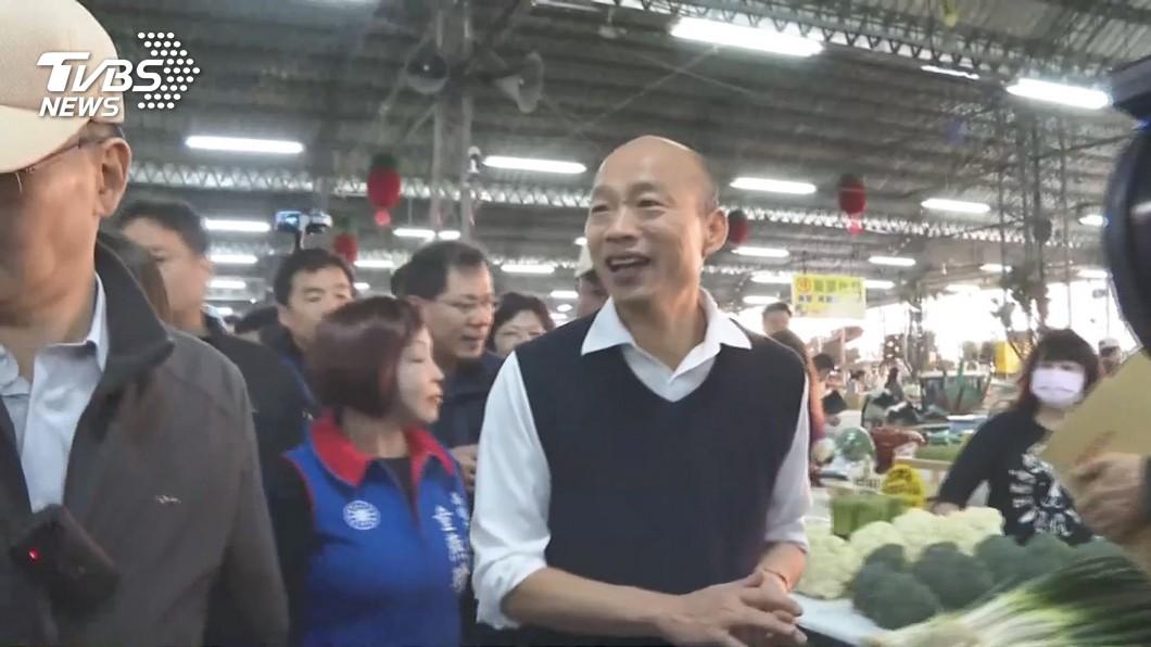 圖/TVBS 韓國瑜起大早視察市場 有人加油有人嗆聲