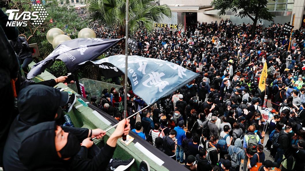圖/達志影像路透社 反送中「天下制裁」集會遭腰斬 警民再爆衝突