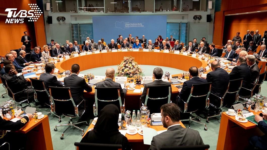 圖/達志影像路透社 柏林峰會商討利比亞危機 各國承諾停止干涉內戰