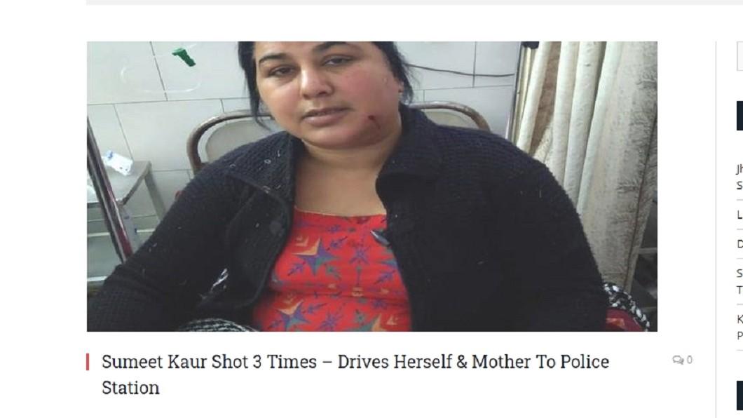 考爾中彈後仍開車載著母親狂飆7公里 (圖/翻攝自Daily Express) 為遺產殺親人!她頭中3槍大難不死 開車狂飆7公里求救