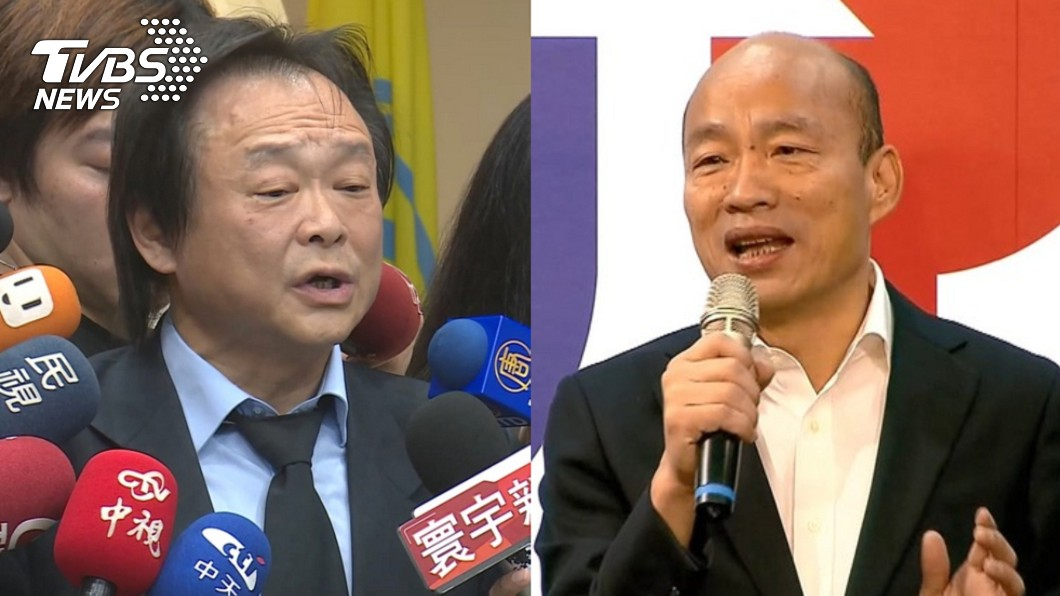 高雄市長韓國瑜(右)、民進黨台北市議員王世堅(左)。(圖/TVBS資料畫面) 韓國瑜如何挽回民心? 扶龍王世堅:只有1個選擇
