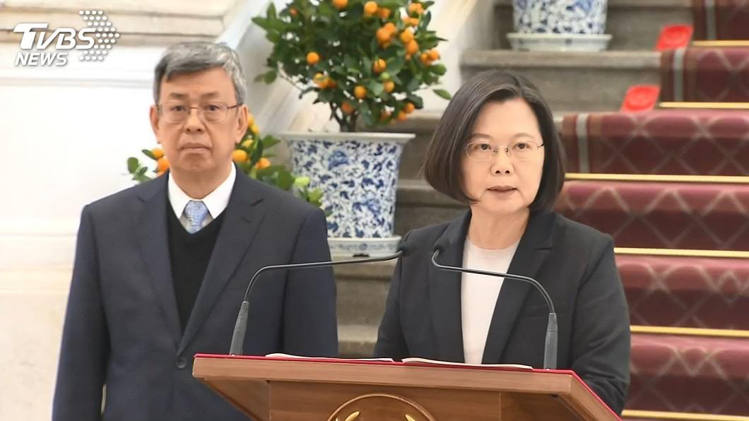 圖/TVBS 防範假訊息 總統、副總統宣導正確使用口罩