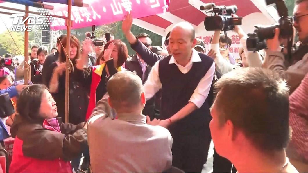 圖/TVBS 挺韓團體13日上凱道「討公道」 總統府:盼理性平和