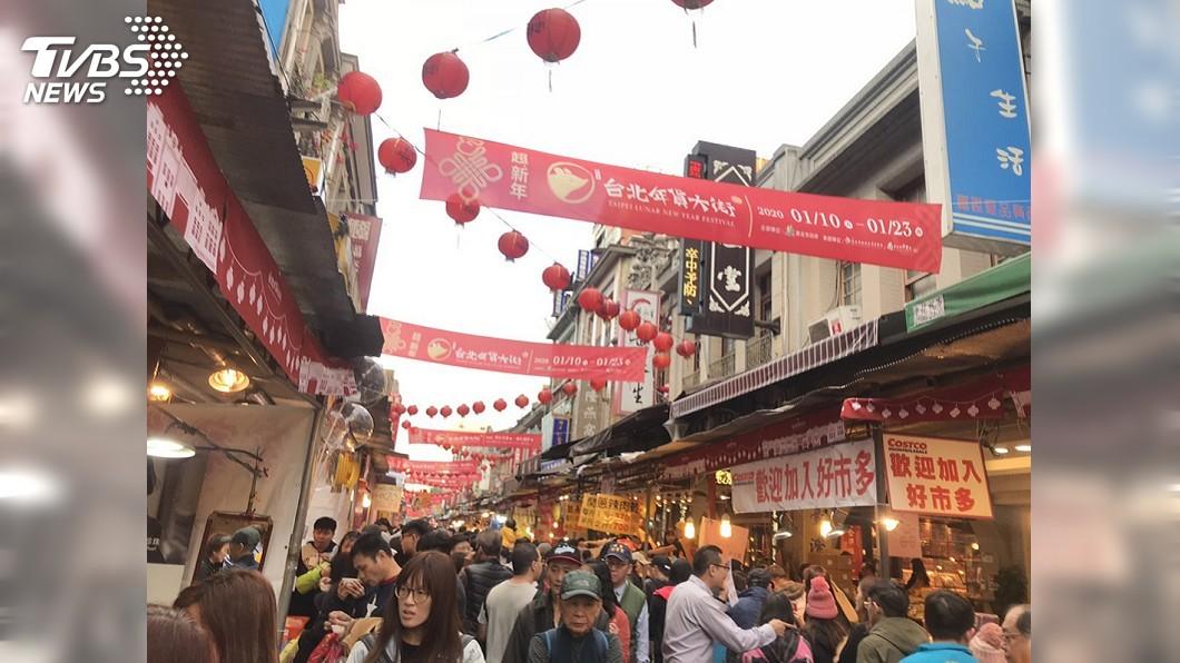 圖/中央社 年貨大街始祖 迪化街華麗轉身不再是「年禍」