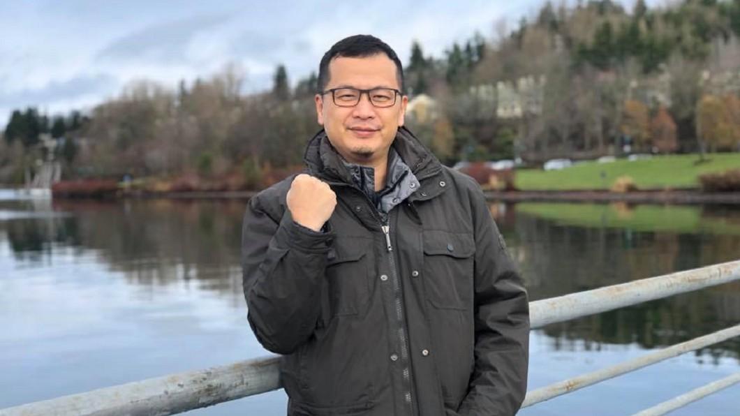 羅智強正式宣布參選台北市長。(圖/翻攝自羅智強Facebook) 兌現承諾!羅智強正式宣布參選台北市長