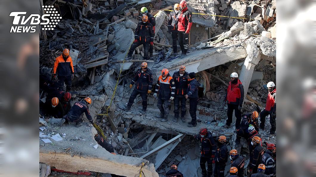 圖/達志影像路透社 土耳其強震待援 消防署:特種搜救隊已整備待命!