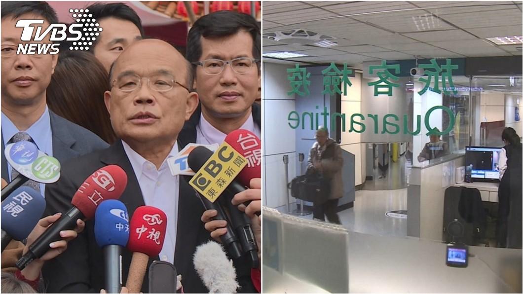 第一線防疫警察寫給行政院長蘇貞昌一封信。(圖/TVBS資料照) 陸返台狂咳入境卻寫「沒症狀」 警寫信舉報蘇揆回應了