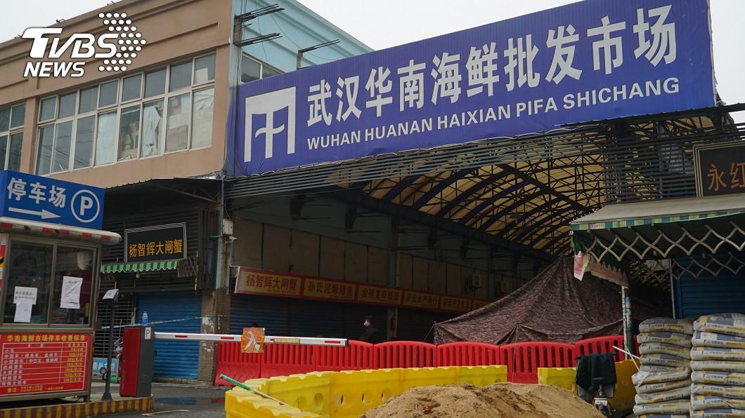 武漢華南批發海鮮市場。(圖/達志影像美聯社) 打卡武漢市場「帶好料回台」 桃園警遭肉搜下場超慘
